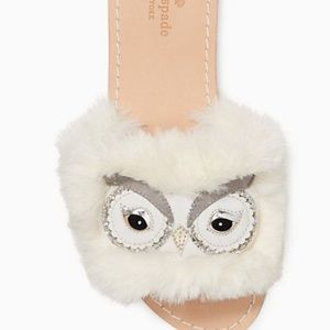 Kate Spade snowy owl sandals